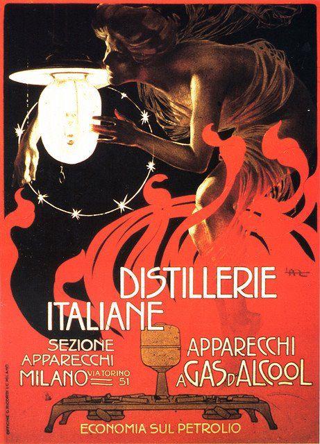 Leopoldo Metlicovitz - Distillerie Italiane, 1899 - Italian Distilleries
