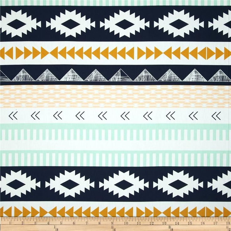 Art Gallery Arizona Arid Horizon from @fabricdotcom  Designed by April Rhodes for Art Gallery Fabrics, this cotton print is perfect for quilting, apparel and home decor accents.  Colors include white, mint, mustard, peach and navy.  This stripe is printed parallel to the selvedge.  Art Gallery Fabric features 200 thread count of finely woven cotton.