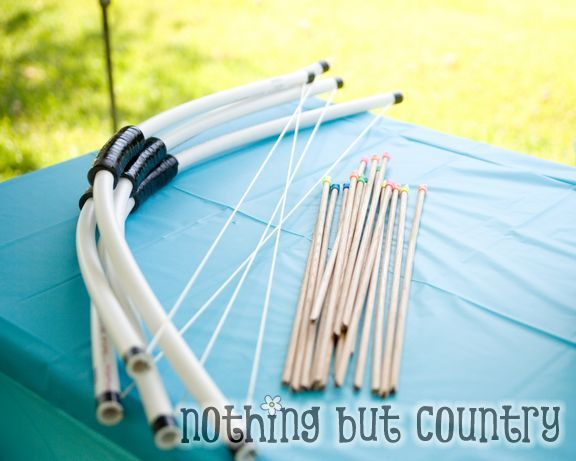 PVC Pipe Bow and arrows.: Bows Arrows, Birthday Parties, Diy Bows, Make A Bows, Brave Parties, Pipes Bows, Pvc Pipes, Kids Toys, Pvc Bows