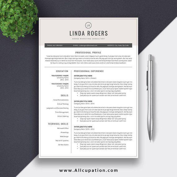2020 Modern Resume Template / CV Template Word, Professional CV Template, Creative Resume ...