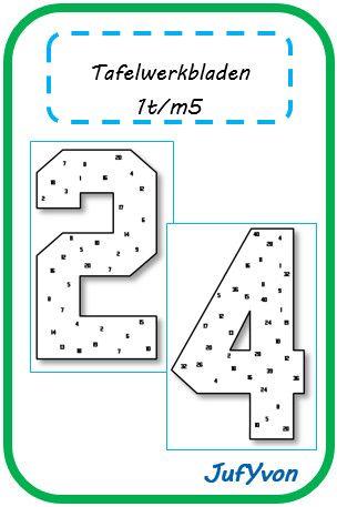 JufYvon: Tafelwerkbladen 1t/m5