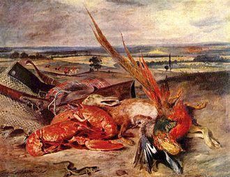 """Eugène Delacroix, """"La Nature morte aux Homards"""" 1826-1827"""