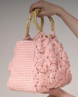 Bolsa Rosa. #crochet #bolsa