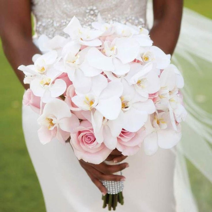 Цветов, букеты свадебные из орхидей