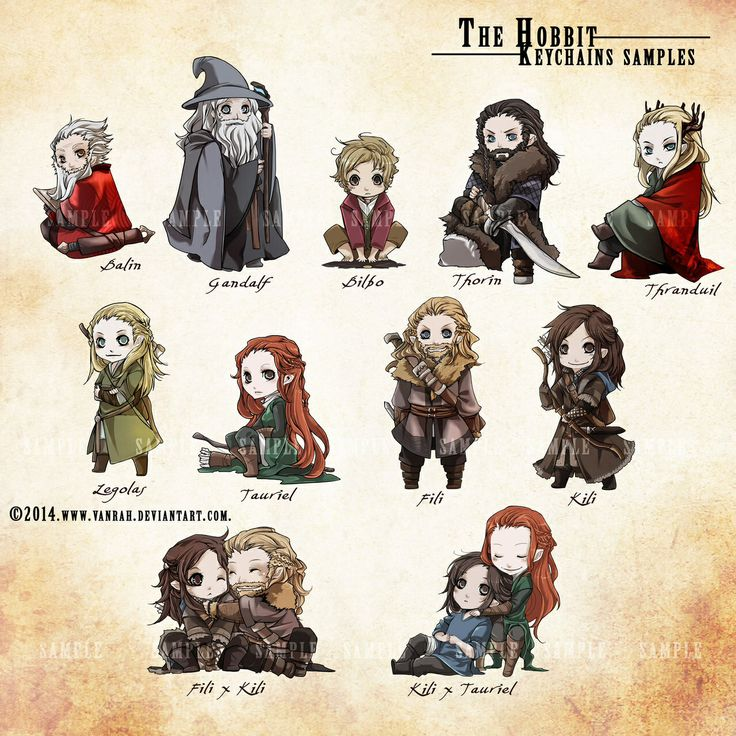 chibi hobbit characters soon ill have to draw them
