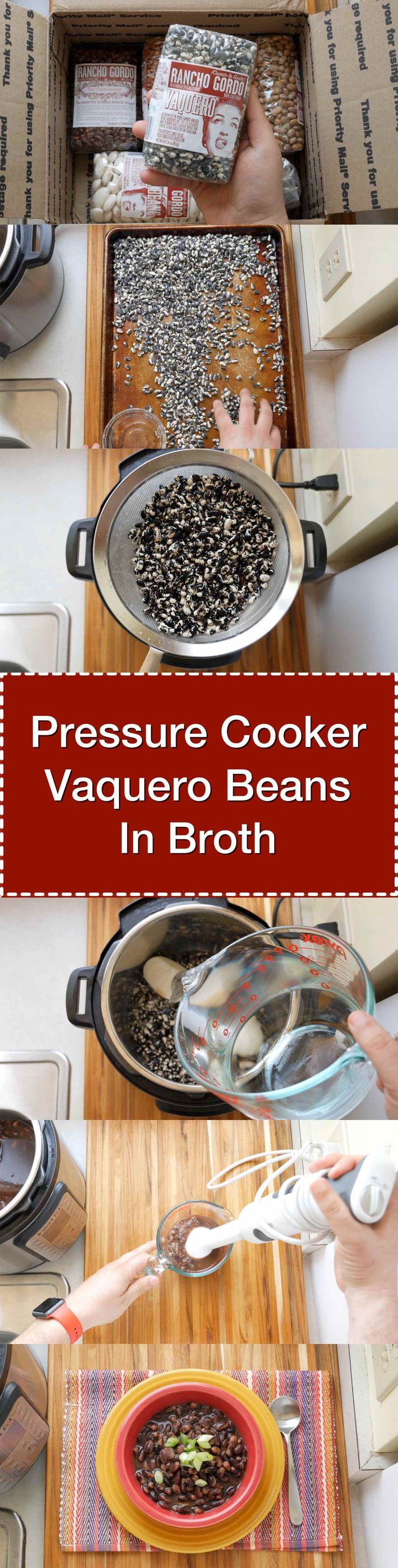 Pressure Cooker Vaquero Beans in Broth - Simple, delicious, and done in about an hour thanks to the pressure cooker. #Recipe #PressureCooker via @DadCooksDinner