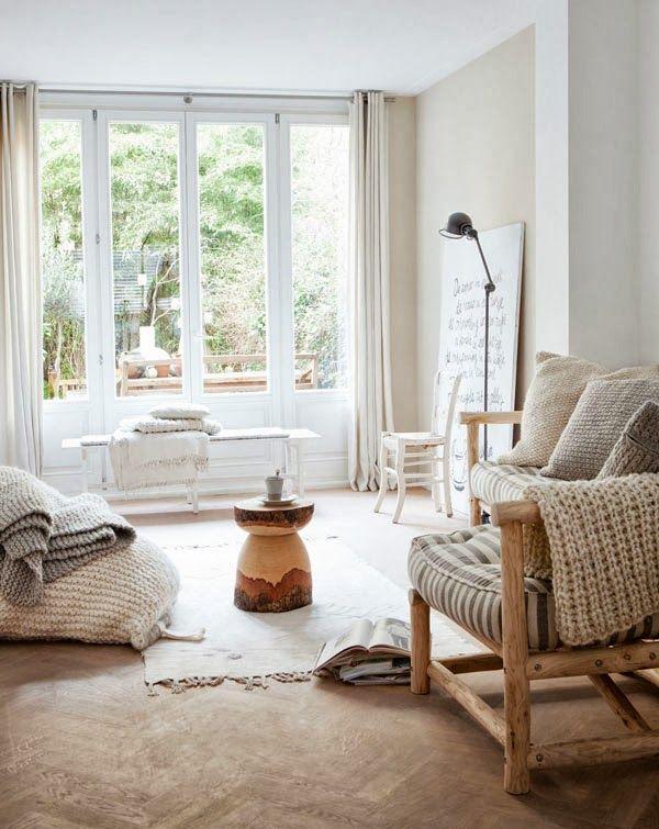 """VINTAGE & CHIC: decoración vintage para tu casa · vintage home decor: Decorando en blanco y tonos tierra. Una de decoración """"tranquila"""" · Two """"calm"""" homes"""