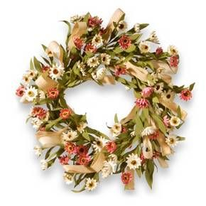 "Artificial Small Sunflower Wreath Pink 22"" - National Tree Company® : Target"