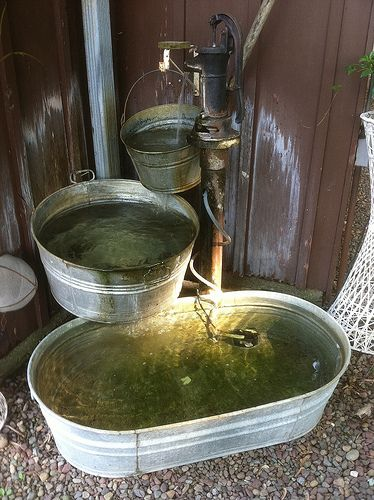 I Will Not Lie   I Love This Idea U003d With Some Creative Flower Plating  Around · Garden FountainsRustic Outdoor FountainsOutdoor Water ...