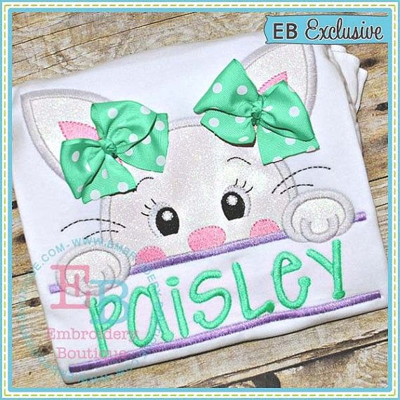 Personalized Easter Bunny Shirt or Onesie Bow is by RockintheTutu
