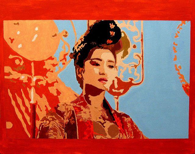 gong lu in orange   by Edwin.Barrington.Lue-Shing