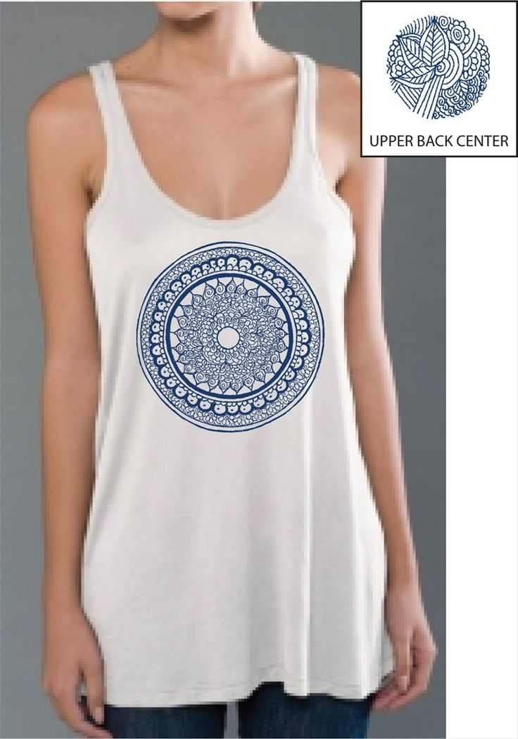 BelaBela Mandala White Tank ~Find this and other Yoga Clothing at downdogboutique.com/