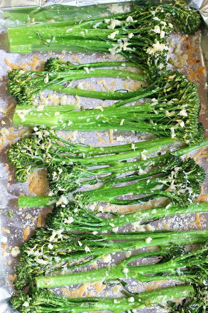 Garlic & Parmesan Roasted Broccolini (Toddler Approved)   Carolina Charm   Bloglovin'