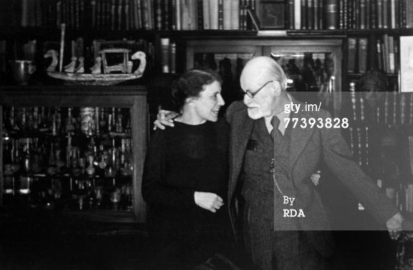 News Photo: Austrian psychoanalyst Sigmund Freud in his office in…