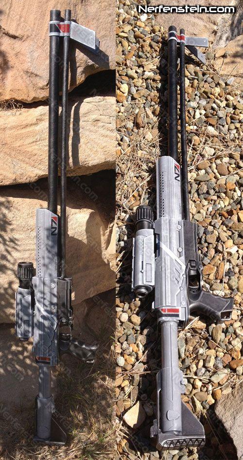 Mass Effect sniper rifle M98 black widow nerf mod