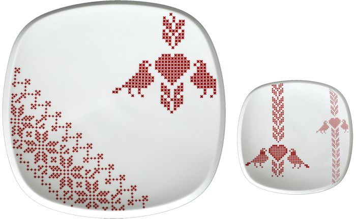 Beautiful porcelain designs inspired by Hungarian traditional embroidery by Zsuzsa Boldizsár