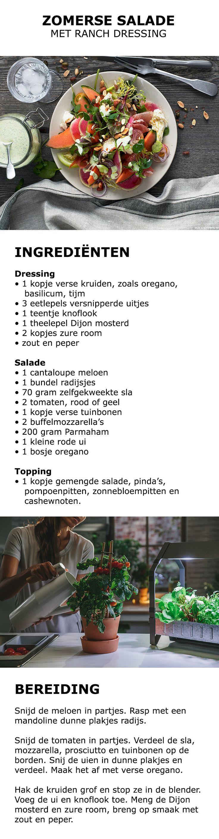 Inspiratie voor de thuiskweker - Zomerse salade met ranch dressing | #IKEA…
