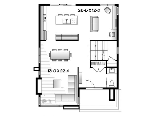 Contemporary Style House Plan 3 Beds 1 5 Baths 1852 Sq Ft Plan 23 2554 House Plans Modern Contemporary House Plans Modern Floor Plans House plan modern style