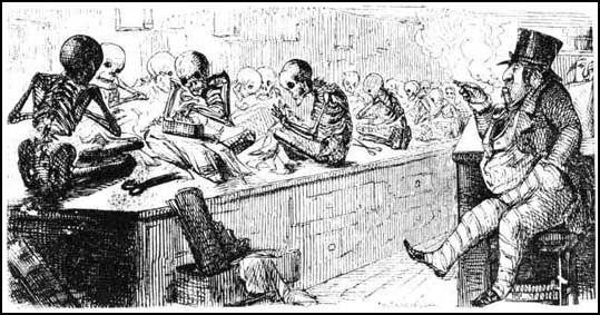 """Bubbles"" - a contemporary comment on sweat shops. Punch, 1845."