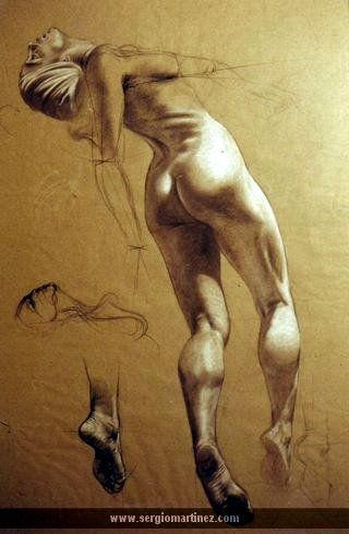 Nice study for light and shadows on body. Sergio Martinez