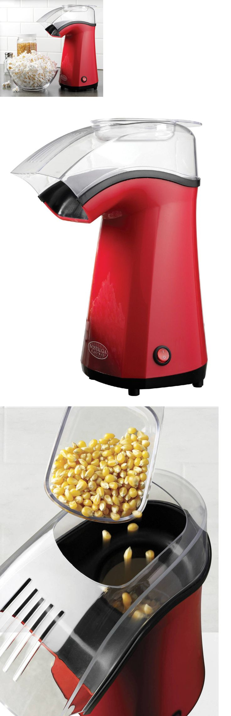 Popcorn Poppers 66752: Hot Air Popcorn Maker ~ New Corn Popper Machine ~ Nostalgia Electrics Aph200red -> BUY IT NOW ONLY: $37.79 on eBay!