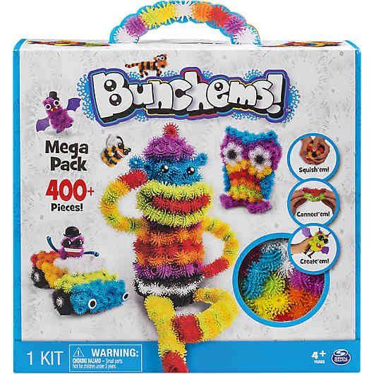 Bunchems Mega Pack, 400 Teile von Spin Master.<br /> <br /> Achtung: Bitte darauf achten, dass beim Spielen die Bunchems nicht in die Haare gelangen!!!<br /> <br /> Bunchems sind kleine Klettbällchen, die sich aneinander kletten können, wodurch tolle und fantasievolle Figuren entstehen, dabei sind der Kreativität keine Grenzen gesetzt. <br /> <br /> Das Megaset enthält insgesamt 370 verschieden farbige Bunchems und 30 verschiedene Accessoires, somit können Kinder die fantasievollsten und…