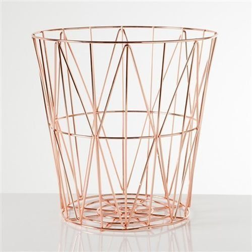 20 ways to bling up your home with copper, gold and brass #Storage #Waste #basket