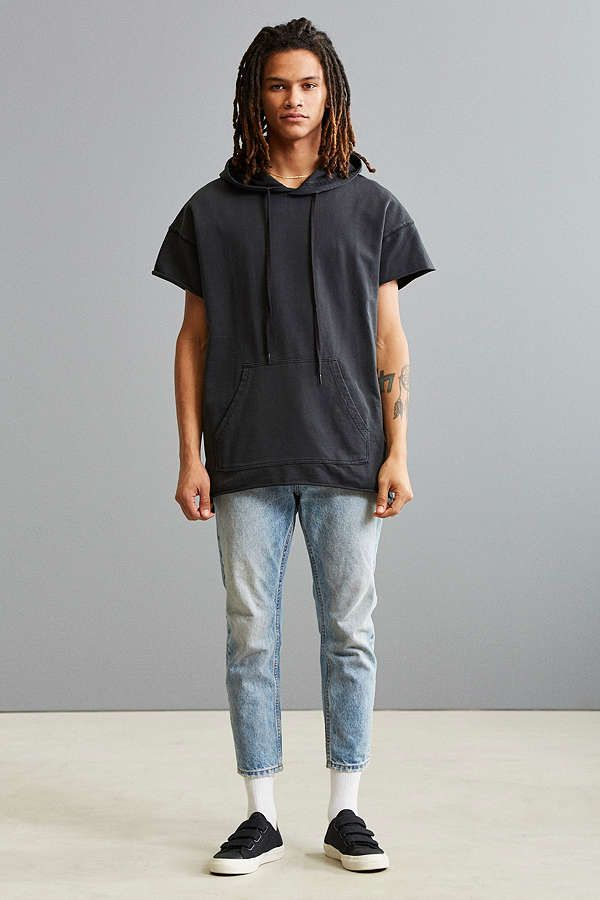 Slide View: 6: UO Faded Short Sleeve Hoodie Sweatshirt