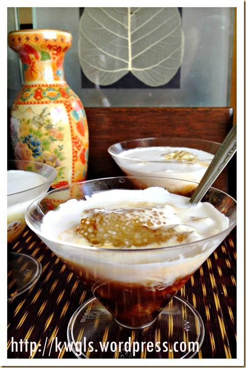 Sago Gula Melaka Puddings (椰糖西米露) A 3 Ingredients Simple Dessert With Awesome Taste