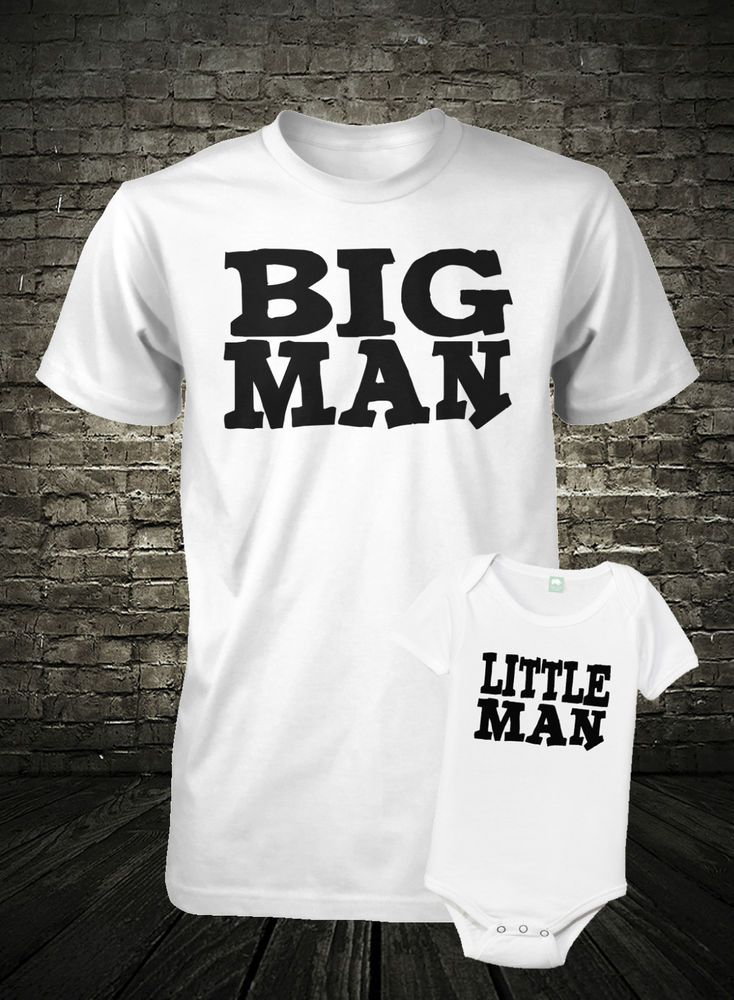 Father and Son Shirt Set Big Man Shirt Little Man Shirt Combo Fathers Day Shirt