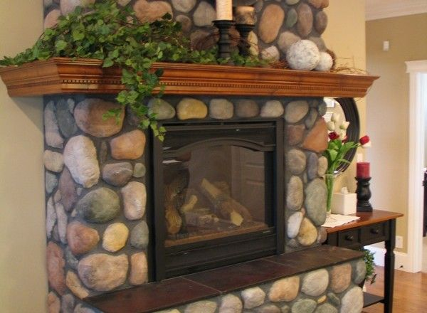 1000 Ideas About River Rock Fireplaces On Pinterest