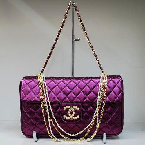 Chanel Shiney Purple Handbag