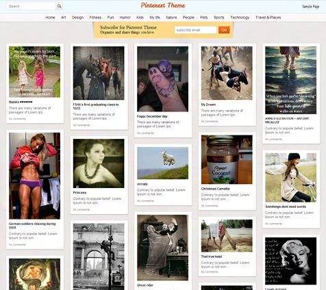 Collection of the most powerful Wordpress pinterest like themes with great design and useful functions.