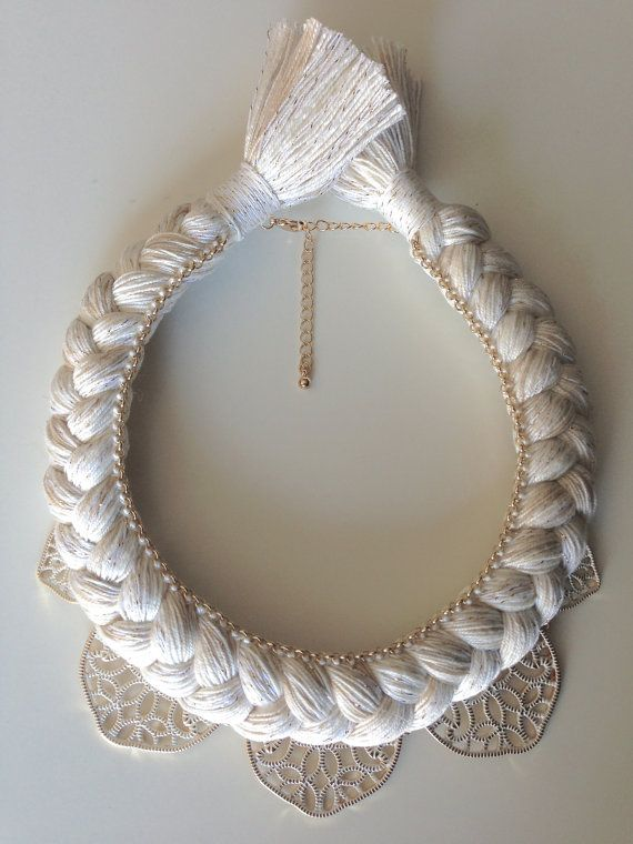 Beige Metal Lace Gold Tone Filigree Natural by stukaLOVAjewelry, $60.00