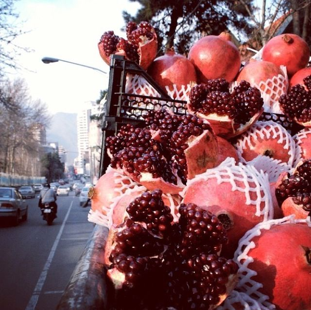 "Tehran , Iran. pomegranate = anaar (in Persian) I can't stop eating this wonderful fruit! It tastes ""PARADISE"" ♥♥♥"