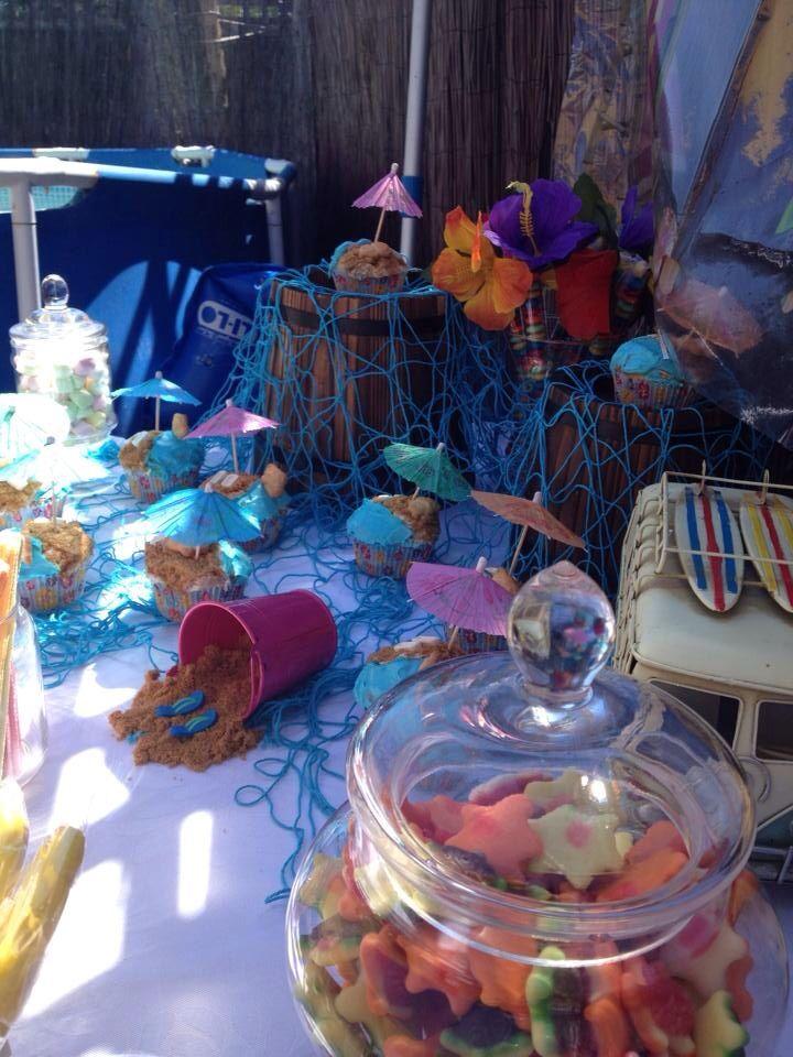 Hawaiian candy buffet
