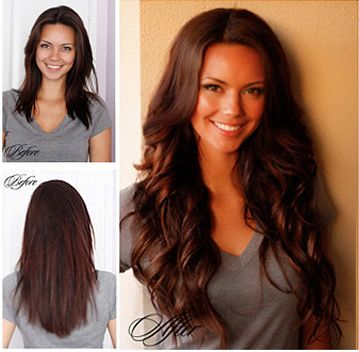 Hair Extensions Before u0026amp; After | Great Lengths Extensions