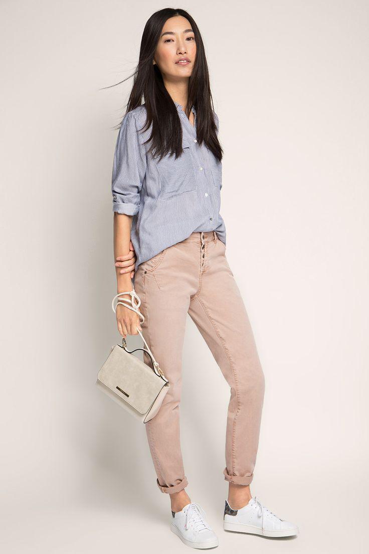 Esprit - Chino van stretchy katoen-twill kopen in de online shop