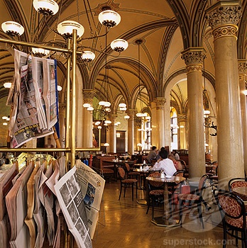 My most favourite coffee place, Cafe Central Vienna!