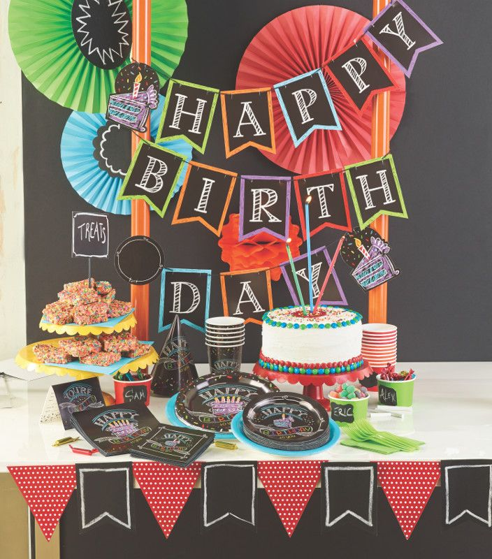Have a birthday close to the start of school? What better way to celebrate than with chalkboard decor! #birthdayparty #chalkboard