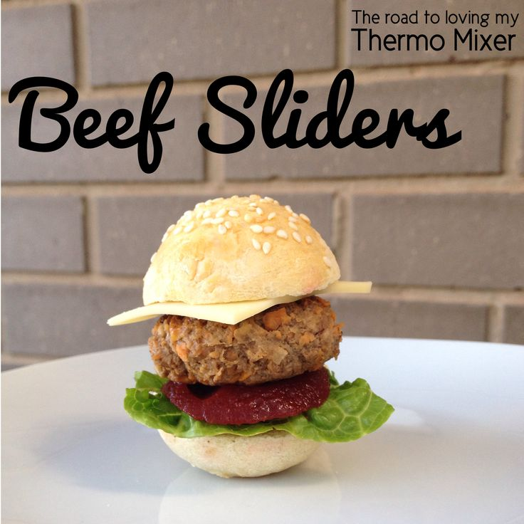 Beef Sliders - buns and mince recipe. Great for little hands too