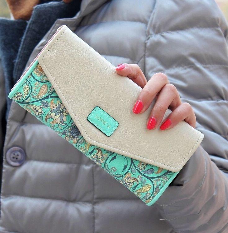 2015 New Flower Wallet Hot Women Wallets Fashion Portfolio Female Long Envelope Coin Purse Clutch Carteira Feminina for Sale