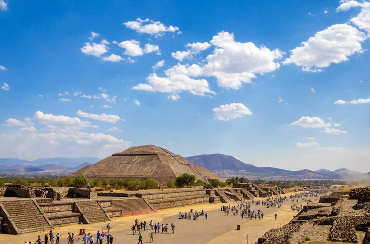 Pyramids in Teotihuacan in Mexico