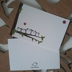 Gum Bears-Set of 8 Flat Cute Forest Gift/Notecards on White Textured Cardstock - by CuteKotori on madeit