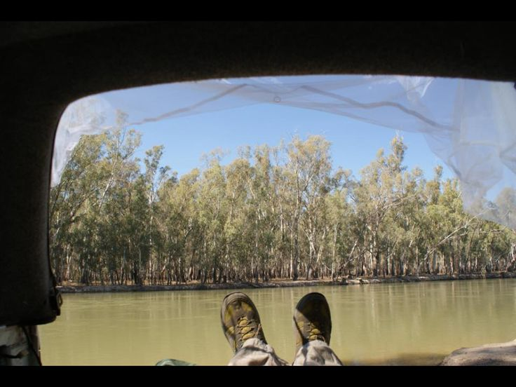River views from the back of the ute,  not a bad place to sleep