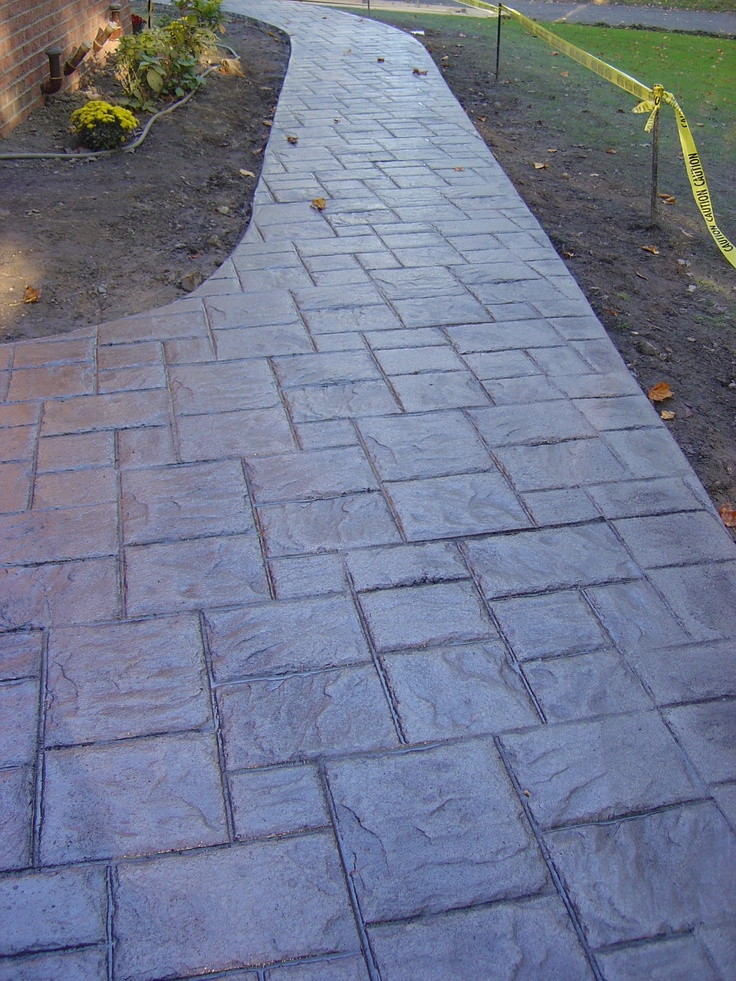 22 Best Images About Slate Ideas On Pinterest Brick Walkway Concrete Steps And Exposed Aggregate