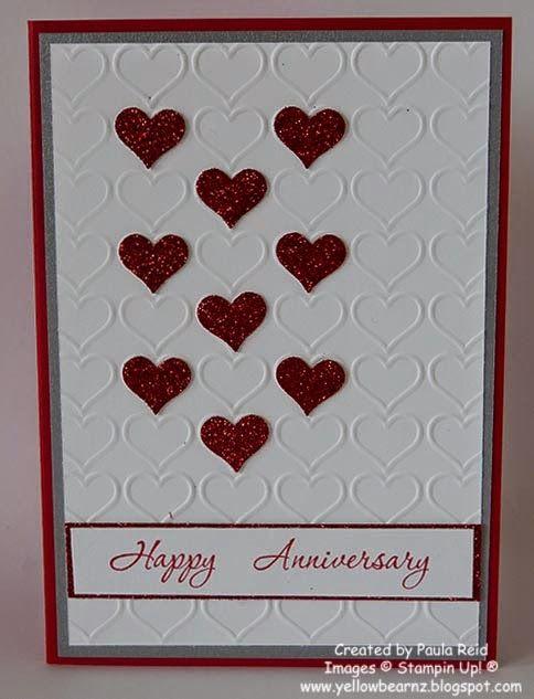 Yellowbear Stampin: Happy Heart - Happy Wedding Anniversary