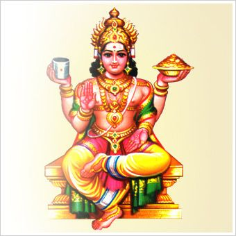 Kubera is the Lord of wealth and the god-king of the semi-divine Yakshas in Hindu mythology.