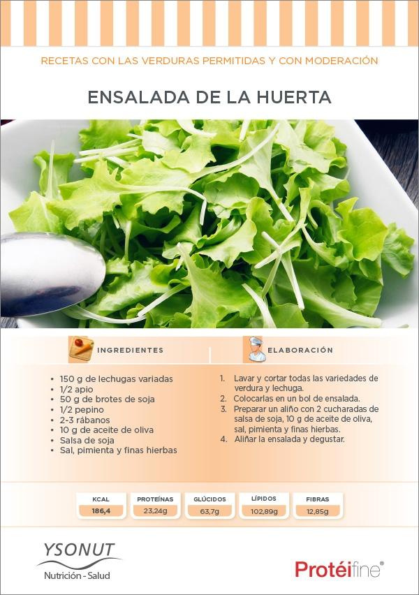 Prueba nuestra última Receta de Dieta en nuestro blog de nutrición - Nutrición Equilibrada: una sana y ligera Ensalada de la Huerta.