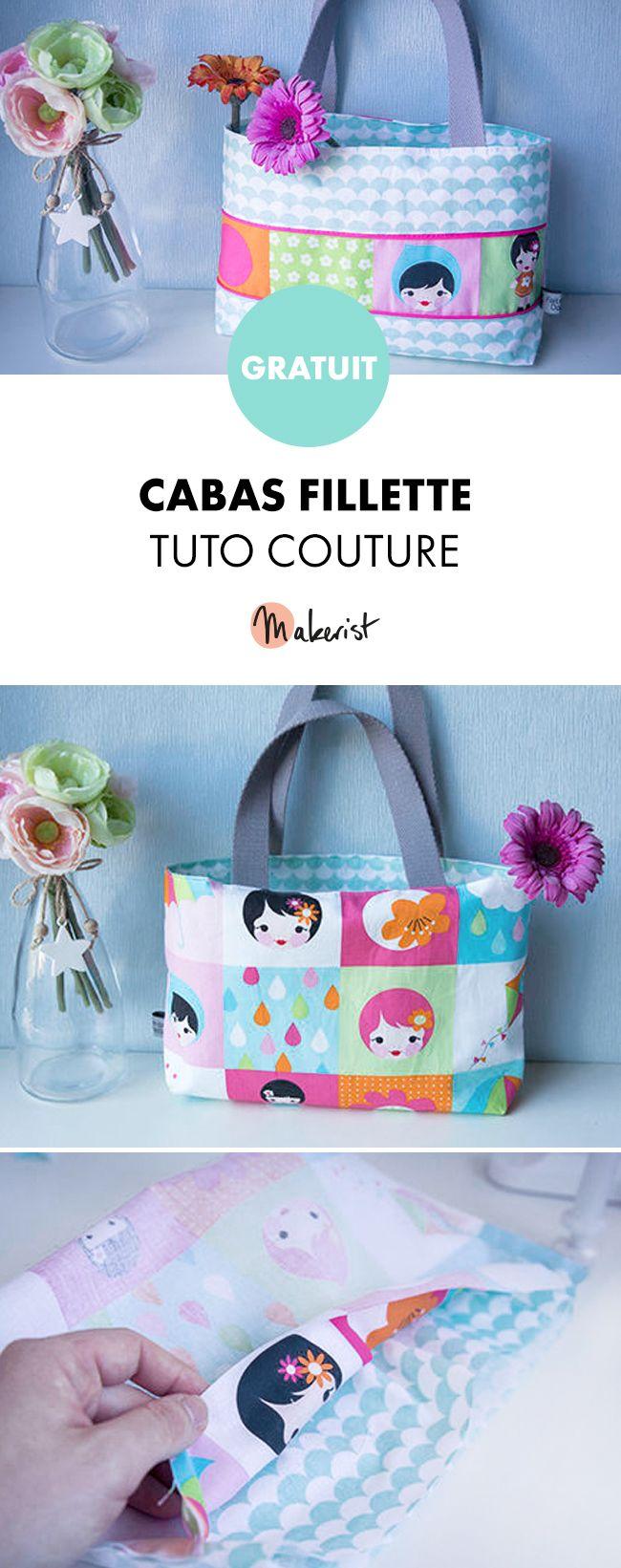 Tuto couture gratuit sac pour petite fille ! Coudre son sac, c'est facile !